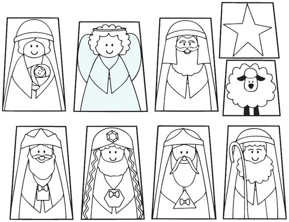 Christmas nativity, Christmas nativity set and In color on