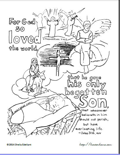 God Salvation Coloring Sheet Coloring Pages