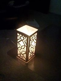 Elven Paper lamp tutorial using posterboard, tissue paper ...