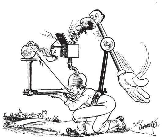 A Rube Goldberg cartoon from Collier's, December 9, 1944