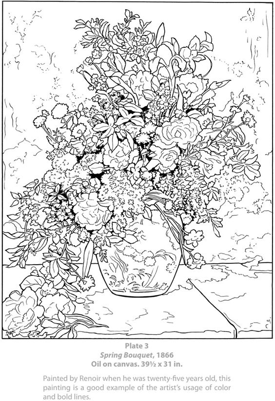 Coloring, Spring and Spring bouquet on Pinterest