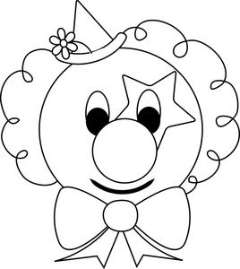 Coloring, Clown faces and Coloring pages on Pinterest