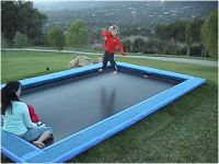 The Trampolines 15-Foot Rectangle Trampoline and Enclosure ...