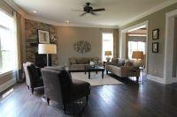 wall color neutral dark wood floors | love the dark floors ...