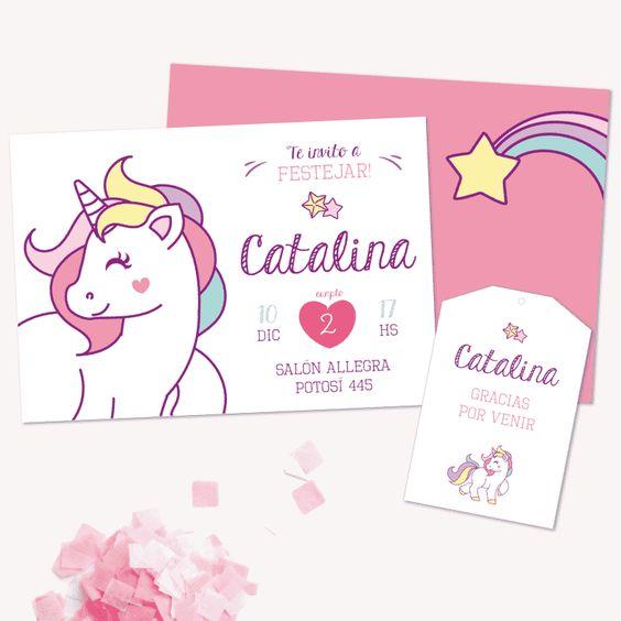 invitaciones cumpleaños unicornio