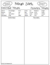 Abstract Nouns Worksheet For Grade 3 - noun worksheets ...
