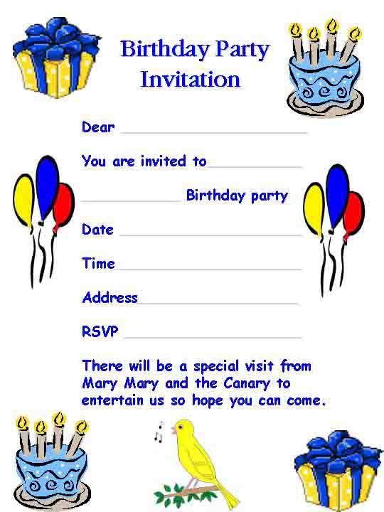 Birthday Invitation Card Template Word – Birthday Invitation Templates Free Word