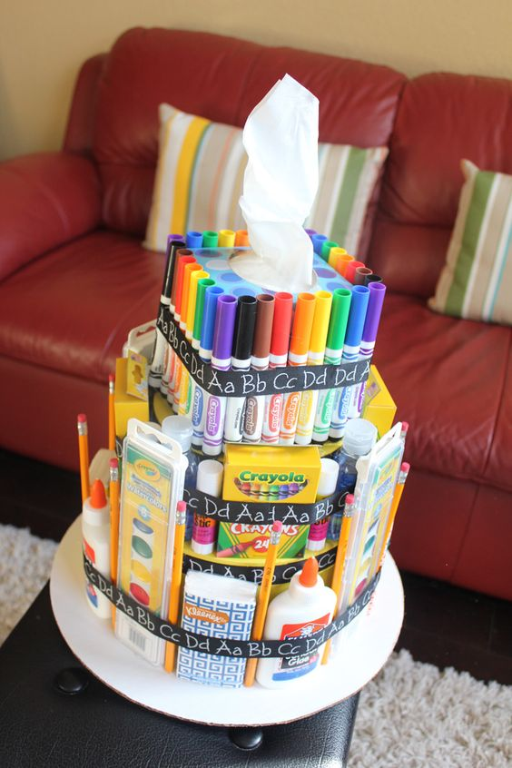 Scraps of Shirlee: school supply cake teacher appreciation gift:
