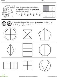 Shape Fractions: Quarters