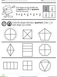 Shape Fractions: Quarters | Fractions, Fractions ...