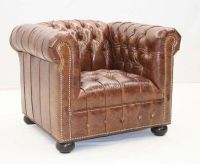 Old Hickory Tannery Tufted Chesterfield Club Chair Western ...