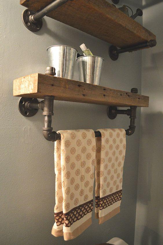 Tagres De Salle De Bain Bois Grange Rcupr Toilettes