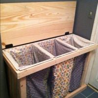 Homemade laundry hamper! Great for the space at the top of ...