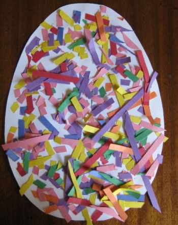 Confetti Egg Easy Easter Crafts for Children
