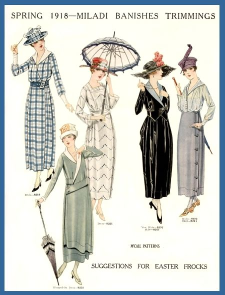 1918; such a pretty year of fashion.: