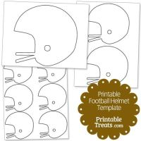Printable Football Helmet Template from PrintableTreats ...