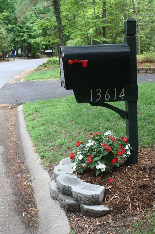 mailbox landscape home and garden