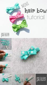 mini hair bow tutorial- super