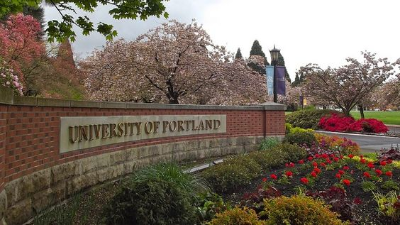 blog.byutvsports.com photo of the University of Portland's main gate.