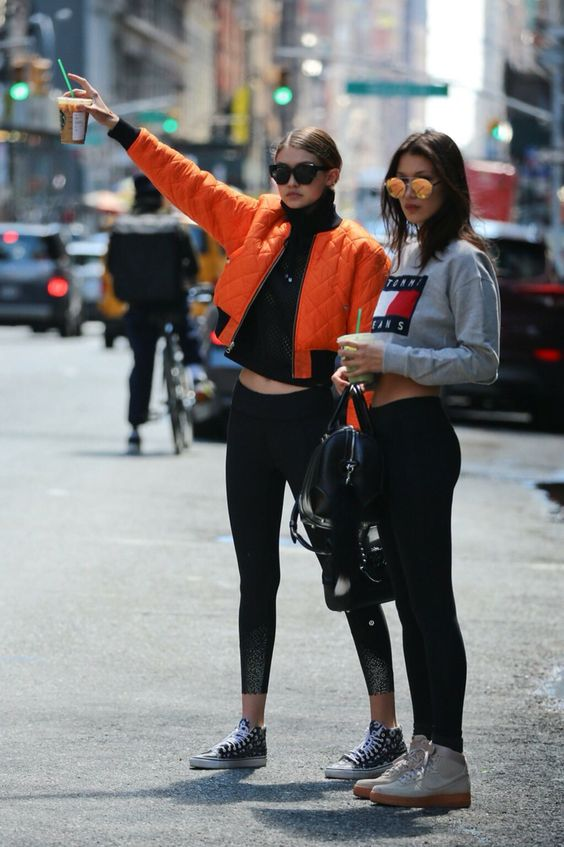 Gigi and Bella Hadid street style | Pinterest: callistacvs (for more inspirations! Hair, makeup/beauty, celebrities, airport styles, accessories, sneakers/shoes, bathing suits/bikini, inspirational quotes):