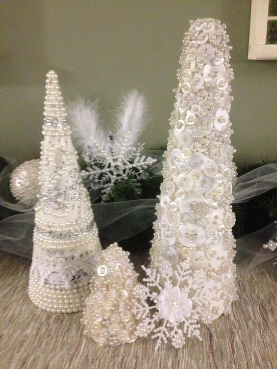Trees Paper Cones And Lace On Pinterest