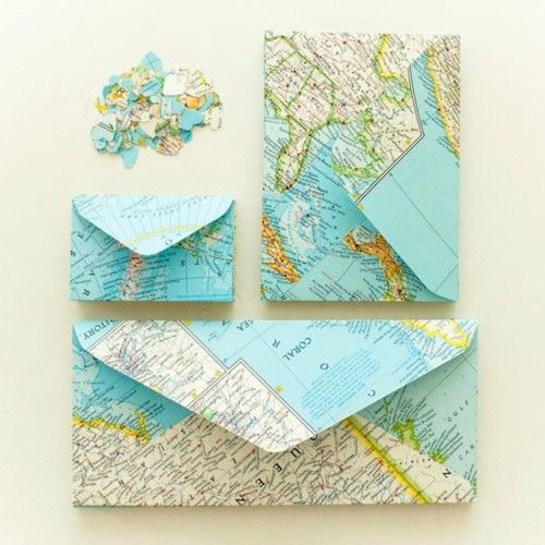 map envelopes: