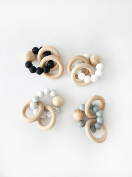 Natural Baby Teething Rattles
