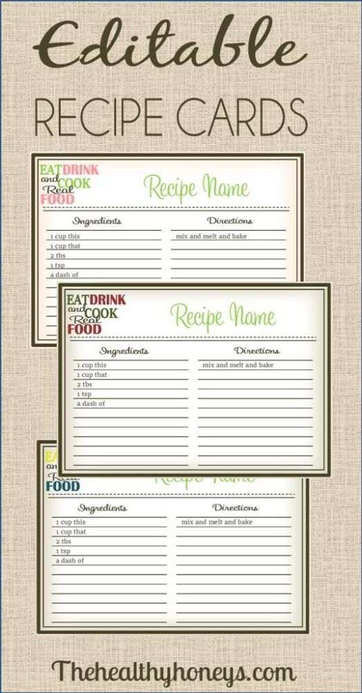 recipe cards real food recipes and diy on pinterest