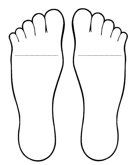 Feet template for Foot Book antonym activity (see prior