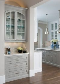 Cabinets, Living room bar and Gray on Pinterest