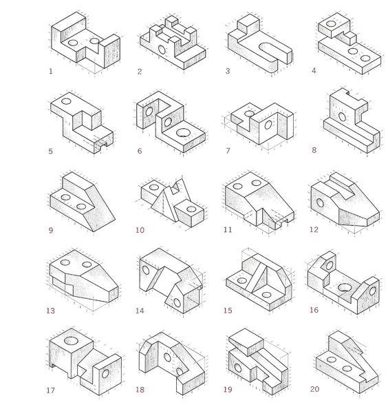 Elevation: In Orthographic drawing, the front, back, and