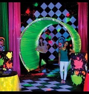 Glow in the Dark Prom Theme Did this this year Great time  PageantProm  Pinterest  Entry