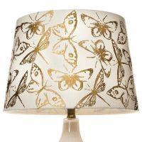 Threshold Butterfly Gold Foil Lamp Shade - Cream (Large ...
