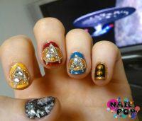 Blinged out trekkie nail art | Nails | Pinterest | Press ...