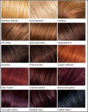 loreal color chart. blonde brown red dark
