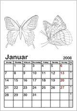 Ausmalkalender-Vorlagen - Kinderkalender 2016 zum Ausmalen