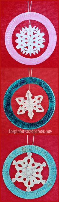 Paper Plate Snowflake Ornament Crafts