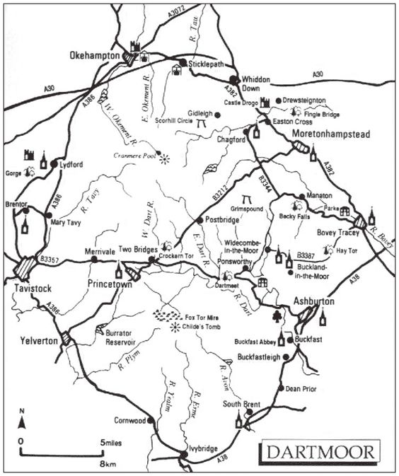 Detailed Dartmoor Map/Masterpiece Theatre (Hound of the