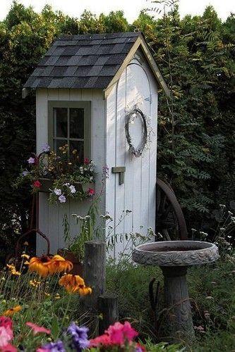 Small Garden Shed Ideas Garden Pinterest Jardins Petits