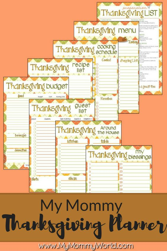 Make Thanksgiving a whole lot easier this year with the My Mommy Thanksgiving Planner. Full of Thanksgiving printables to organize your entire holiday, from Thanksgiving dinner ideas, to tablescapes, decorations, recipes and shopping lists. Let these planner pages take the stress off so that you can enjoy the food and your family this year!: