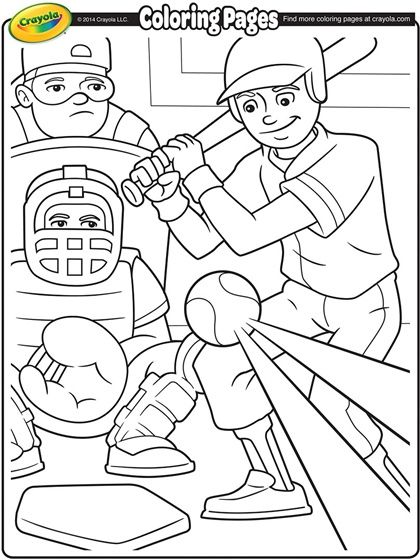 Baseball, Fun coloring pages and Coloring pages on Pinterest