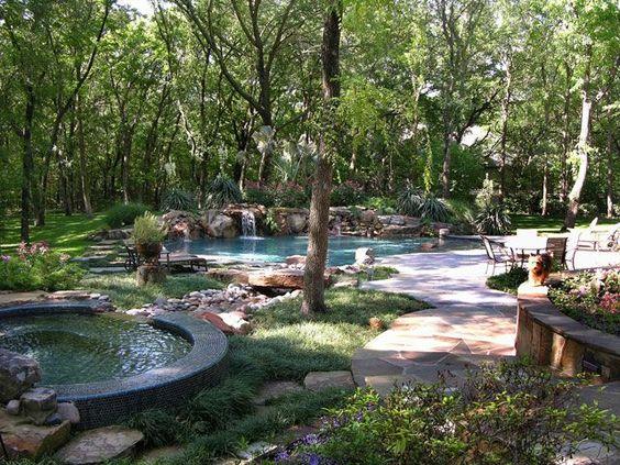 natural backyard pools