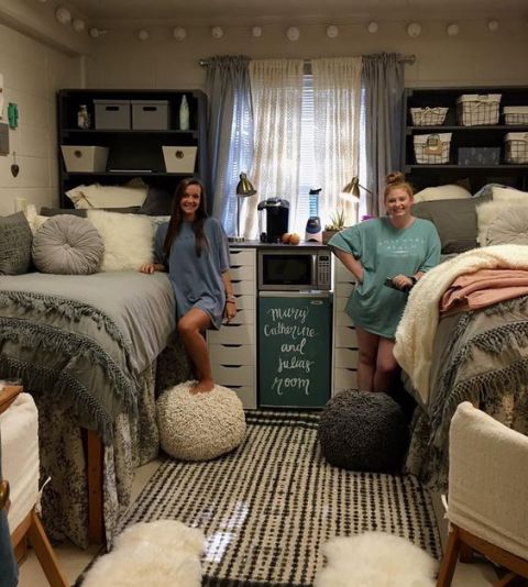 34 Best Great Dorm Bathroom Ideas Images On Pinterest: 18 Amazing Coordinating Dorm Room Ideas