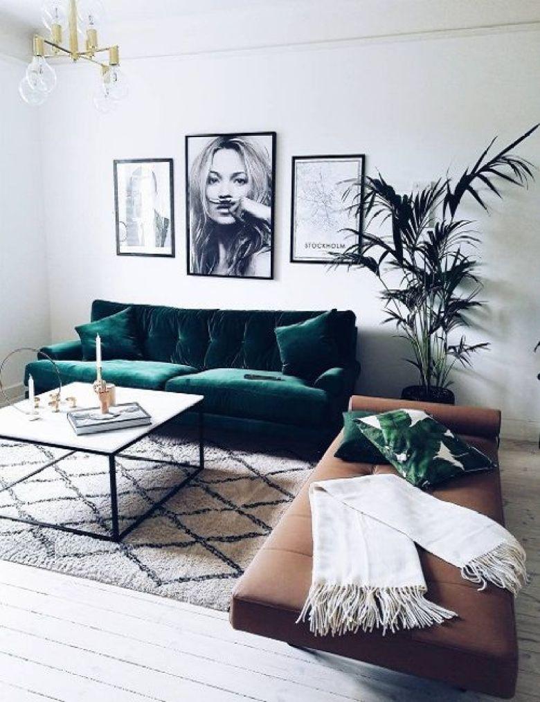 Sofá verde: