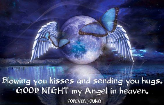 Pin By Rosario Vazquez On Good Night Blue Moon Angels In Heaven Moon Art