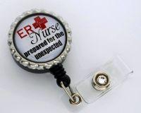 ER Nurse Retractable ID Badge Holder | Nurse Stuff ...