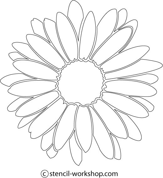 Flower stencils, Daisy flowers and Stencils on Pinterest