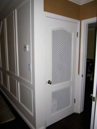What a cool idea, custom vent panels for a pantry door ...