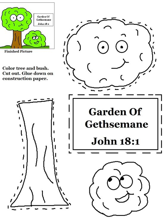 Garden of Gethsemane Cutout activity sheet for kids