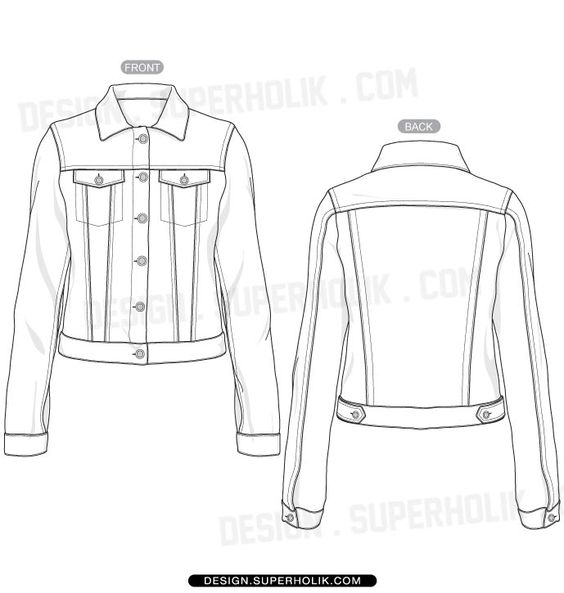 Fashion design templates, Vector illustrations and Clip